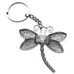 Porte clé en métal libellule stylisée dessous