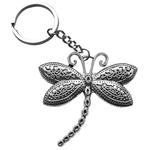 Porte clé en métal libellule stylisée