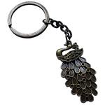 Porte clé en métal paon