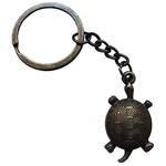 Porte clé en métal tortue terrestre