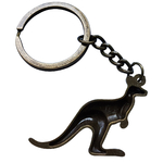 Porte clé métal kangourou dessous