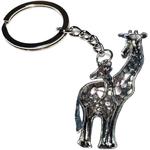 Porte clé métal girafe mère bébé