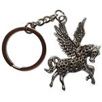 Porte clé métal pégase cheval ailé