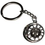 Porte clé métal lune et soleil