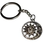Porte clé métal lune et soleil dessous