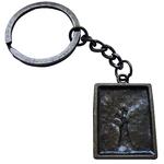 Porte clé métal tête arbre de vie dessous