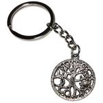 Porte clé métal arbre de vie soleil et lune stylisé dessous