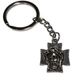 Porte clé métal croix jésus