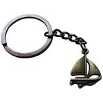Porte clé métal bateau à voiles voilier