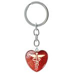 Porte clé métal caducée infirmière