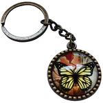 Porte clé métal vintage papillon