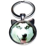 Porte clé métal chien husky