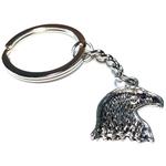Porte clé métal tête daigle HD2