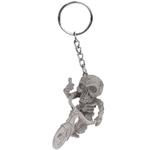 Porte clé silicone squelette sur un vélo