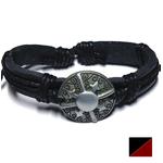 Bracelet Viking Cuir Noir ou marron