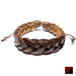 BRC45B - Bracelet tressé cuirjpg