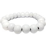 Bracelet Perles Bois Blanches