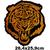 Grand patch tigre fauve savane