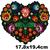 Grand patch coeur fleurs