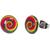 Boucles d'Oreille Clous Acier Inoxydable Spirales multicolore