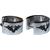 Boucles d'oreilles acier inoxydable anneaux créoles argenté aile tribal