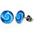 Boucles d'oreille clous acier inoxydable spirale mandala tentacule pieuvre poulpe stylisé bleu