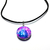 Collier pendentif métal galaxie bleu