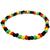 Bracelet Plastique Rasta Noir Vert Jaune Rouge 1