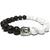 Bracelet Pierre Lave et Howlite Blanc Tête de Bouddha 1