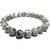 Bracelet pierre veine de dragon gris 1