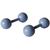 Piercings Faux Écarteurs Plug Boule Bleu Ciel 5mm