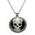 Collier Pendentif métal tête de mort mexicaine couronne