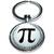 Porte clé en métal lettre Pi 3,1415