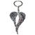 Porte clé en métal Aile d'ange stylisées