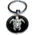 Porte clé en métal tortue stylisé blanche