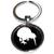 Porte clé en métal silhouette oiseau kiwi blanc