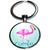 Porte clé oiseau flamant rose stylisé