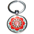 Porte clé en métal mandala rouge