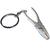Porte clé en métal avec chainette pince