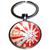Porte clé métal Merry Christmas noël blanc et rouge