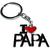 Porte clé en métal I love Papa