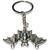 Porte clé en métal chauve souris