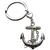 Porte clé métal ancre bateau coeur
