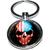 Porte clé métal tête de mort drapeau US
