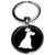 Porte clé métal chien avec une couronne