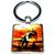 Porte clé carré métal dinosaure T Rex Jurassique