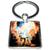 Porte clé carré métal pégase cheval ailé