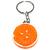 Porte clé plastique rondelle d'orange