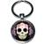 Porte clé métal Tête de mort mexicaine couronne de roses rouges