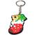 Porte clé plastique bas de noël nounours et cadeau